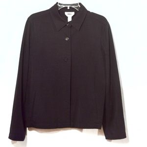 TALBOTS Jacket Black Size 12  Shirt Blazer